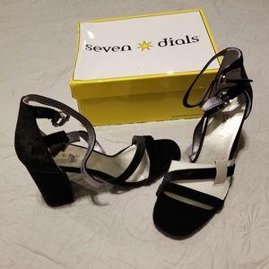 Strappy Black Velvet Heels!